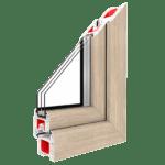 przekrój okna plastikowego potrójnego