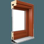 okno drewniane wzmacniane